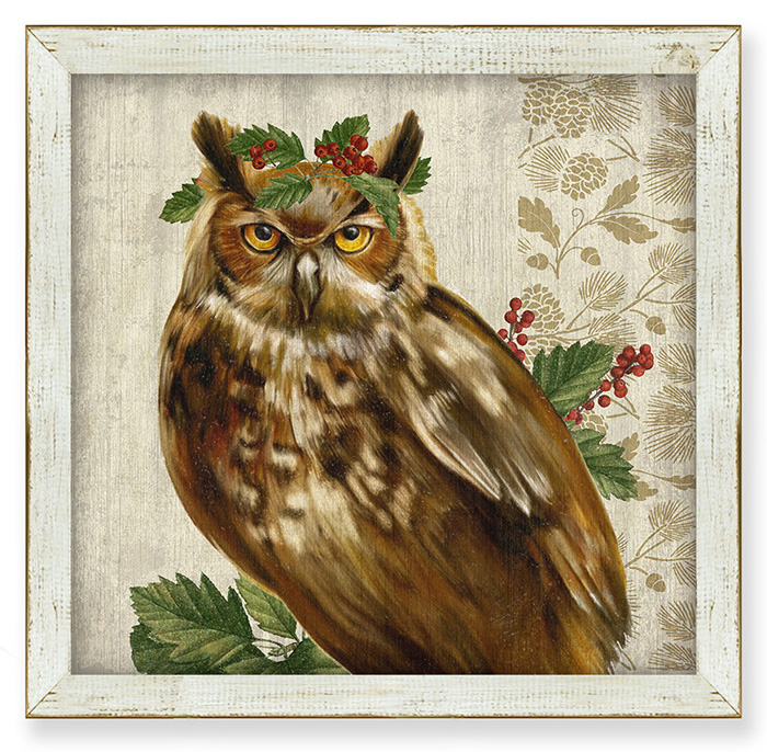 7855: Woodland Life Horned Owl Wall Art (Product Detail)