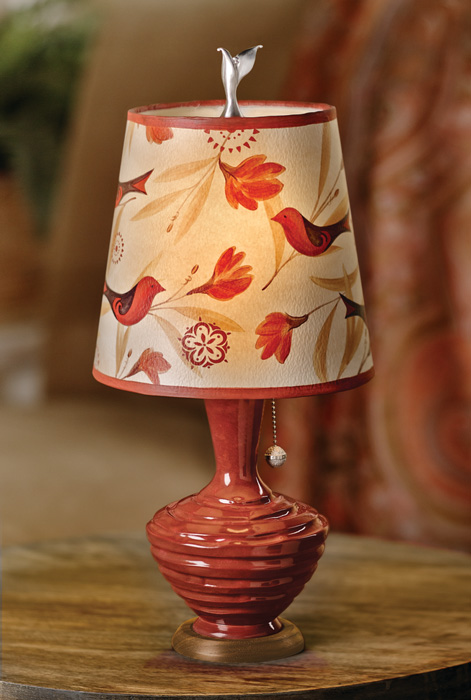 7805: Ugone Birds and Blossoms Lamp (Product Detail)