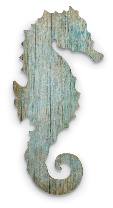 7860: Seahorse Wall Art - Left (Product Detail)