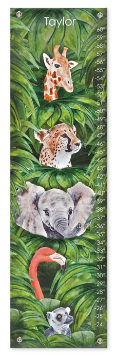 7870: Growth Chart - Jungle Friends (Product Detail)