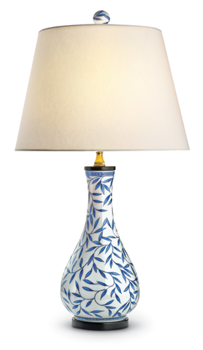 7837: Blue and White Vase Lamp (Product Detail)