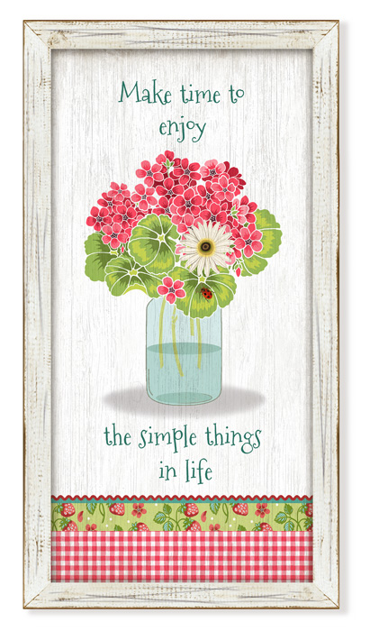 """7903: """"Make Time to Enjoy"""" Wall Art (Product Detail)"""