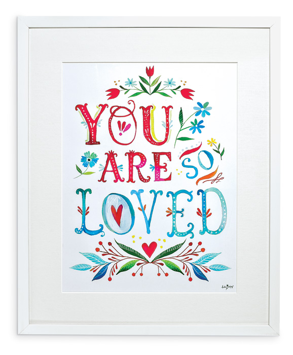 "7922: ""You Are So Loved"" Wall Art (Product Detail)"