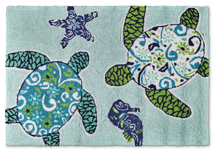 7927: Blue Turtles Rug (Product Detail)