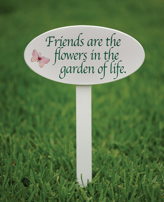 8123: Friends are the Flowers Sign (Product Detail)