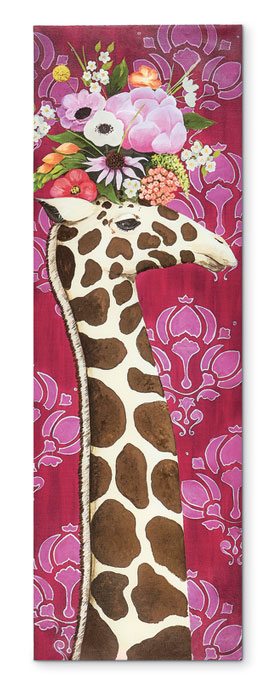 8202: Giraffe with Flowers Wall Art (Product Detail)