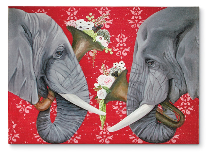 8203: Elephant Love Song Wall Art (Product Detail)