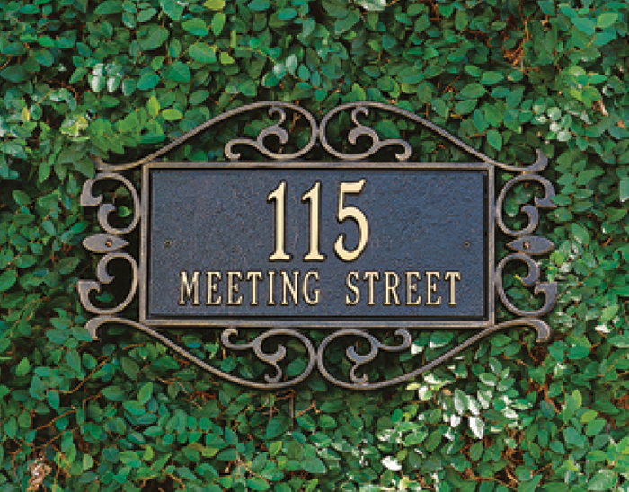 6327: Fretwork Wall Address Sign (Product Detail)