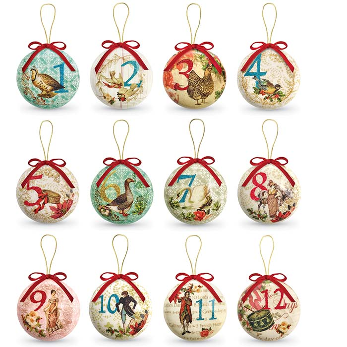 8194 twelve days of christmas ornaments set of 12 product detail