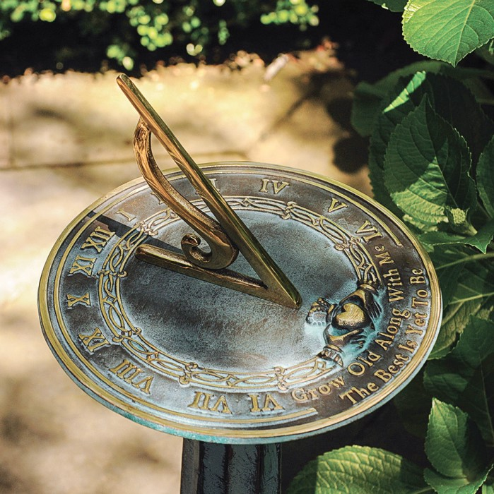 "8232: ""Grow Old with Me"" Sundial (Product Detail)"