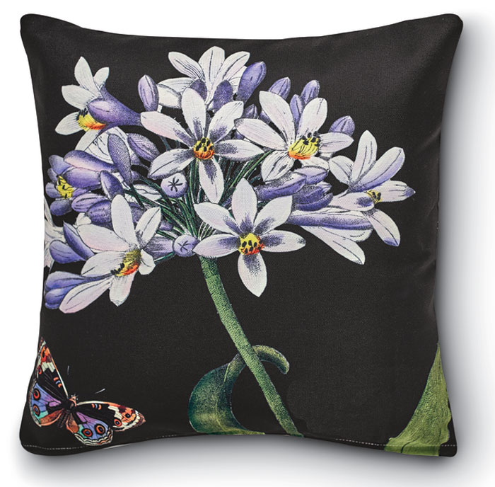 8290: Black Floral II Pillow (Product Detail)