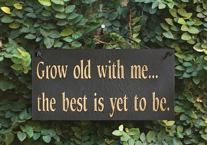 "8341: ""Grow Old with Me""Sign (Product Detail)"