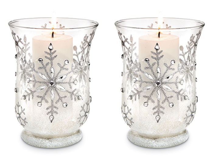"8339: Pillar Candle 5""/White (Set of Two) (Product Detail)"