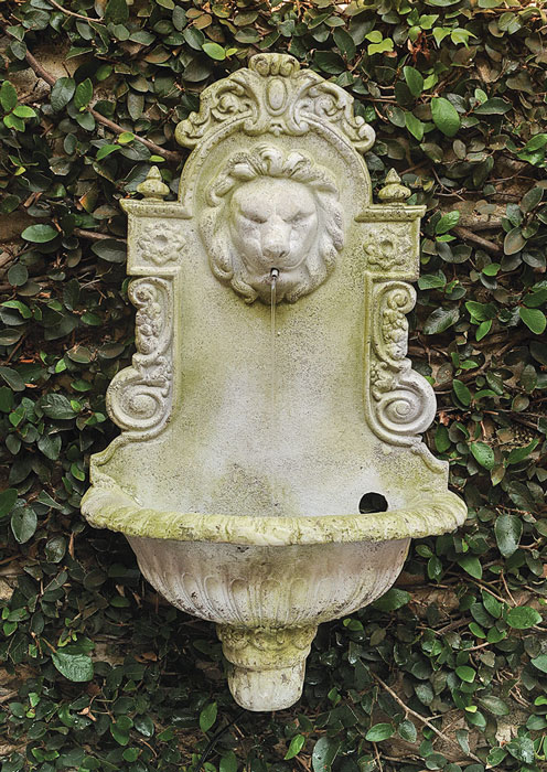 7759: Lion Wall Fountain/Moss (Product Detail)