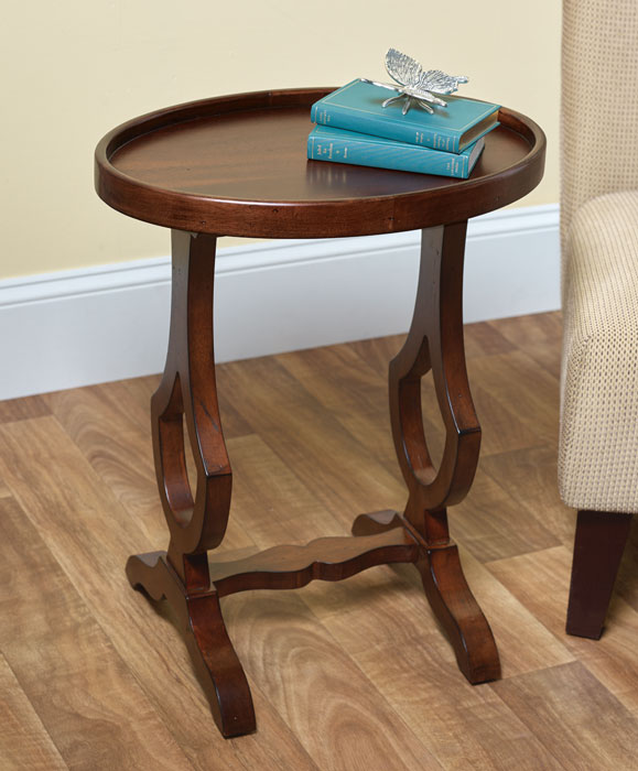 8364: Oval Side Table (Product Detail)