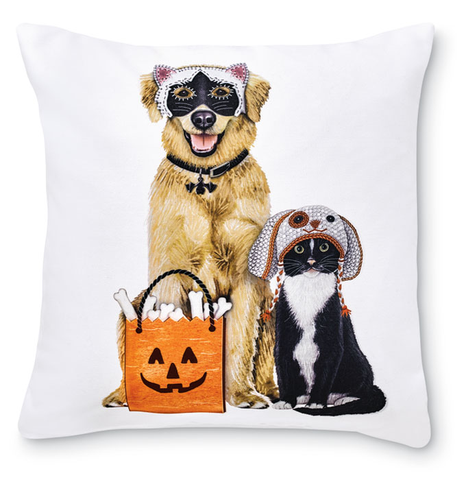 8311: Trick or Treat Dog and Cat Pillow (Product Detail)