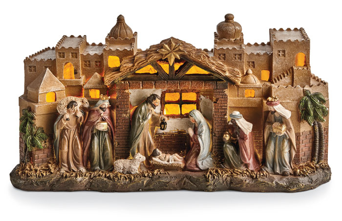 7959: Lighted Nativity (Product Detail)