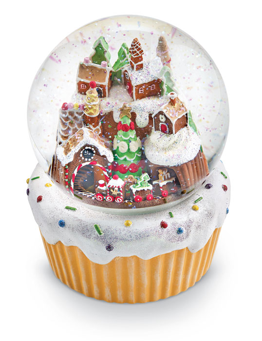 7986: Gingerbread Musical Snow Globe (Product Detail)