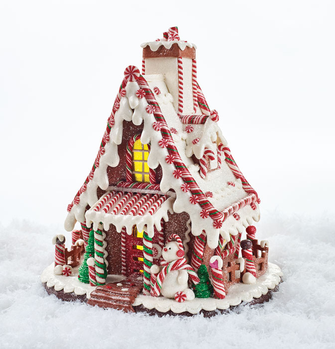 8102: Lighted Gingerbread House (Product Detail)