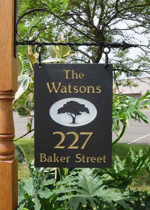 8401: Tree Address Single-Sided Sign  (Product Detail)