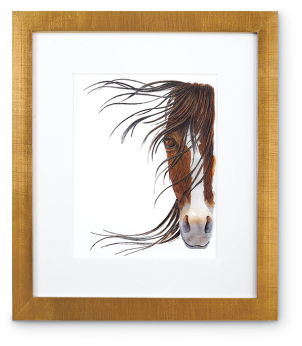 8374: Horse Portrait - Brown (Product Detail)