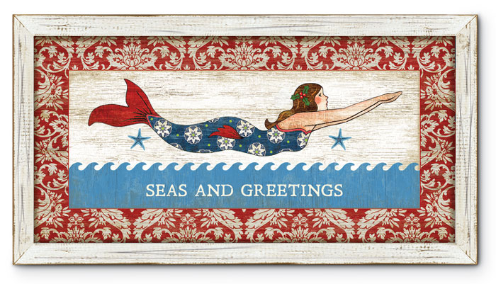 "8349: ""Seas and Greetings"" Framed Wall Art (Product Detail)"