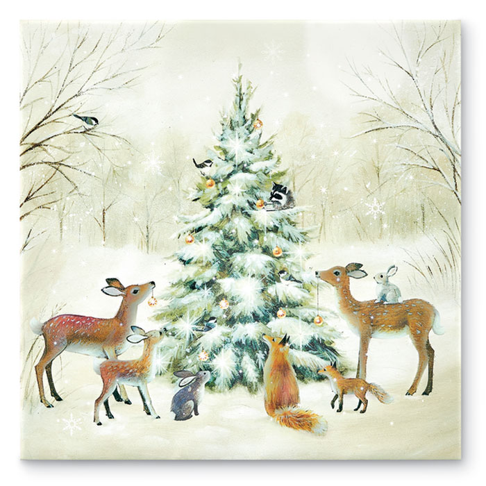 8144: Woodland Animals Lighted Print (Product Detail)