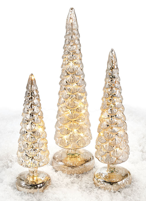 8080: Trees with LED Lights (Set of Three) (Product Detail)
