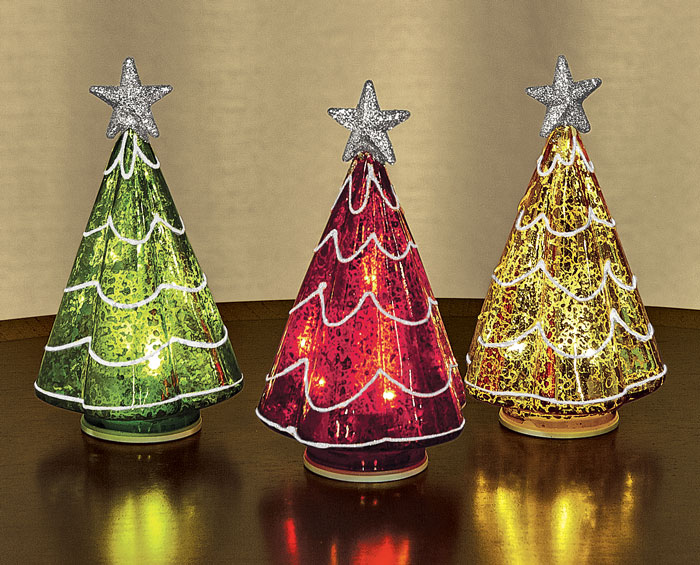 8223: Colorful Trees with LED Lights (Set of Three) (Product Detail)