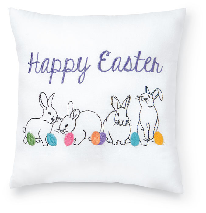 8519: Happy Easter Pillow (Product Detail)