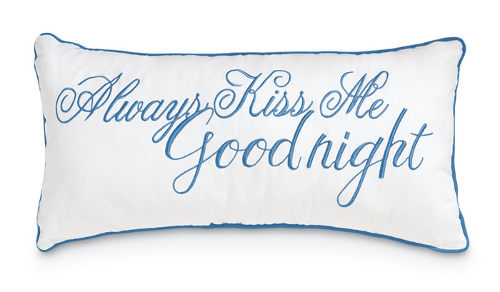 8520: Lumbar Pillow - Always Kiss Me (Product Detail)