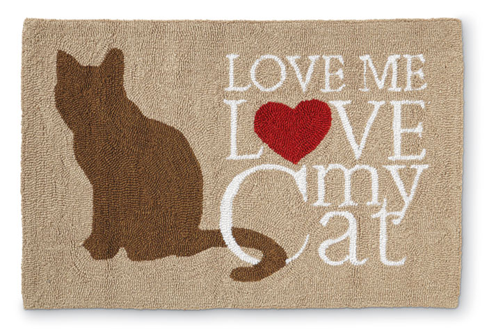 8521: Love Me Love My Cat Rug (Product Detail)