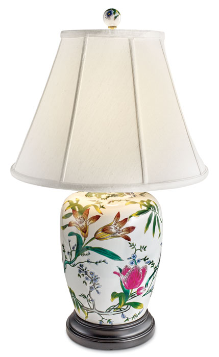8555: Lilies and Tulips Lamp I (Product Detail)