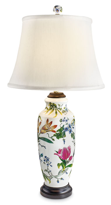 8556: Lilies and Tulips Lamp II (Product Detail)