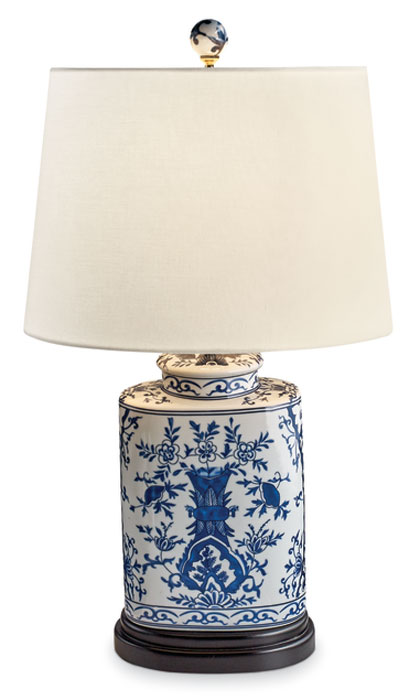 8550: Blue and White Oval Lamp (Product Detail)