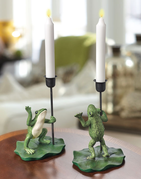 8516: Frog Candleholders (Set of Two) (Product Detail)