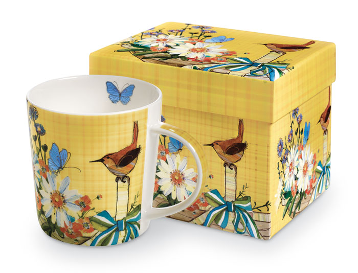 8368: Wren and Butterflies Mug (Product Detail)
