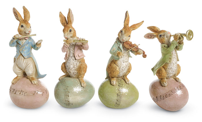 8442: Bunny Musicians (Set of Four) (Product Detail)