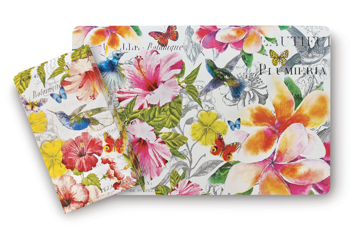 8572: Hibiscus and Hummingbird Napkins (Set of Two) (Product Detail)