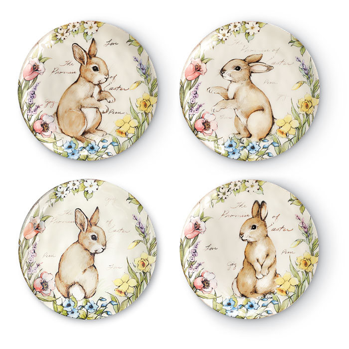 8497: Bunny Dessert Plates (Set of Four) (Product Detail)