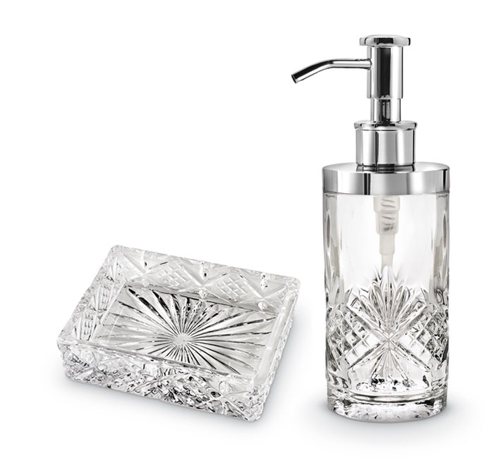 8683: Crystal Soap Dish and Lotion Pump (Product Detail)