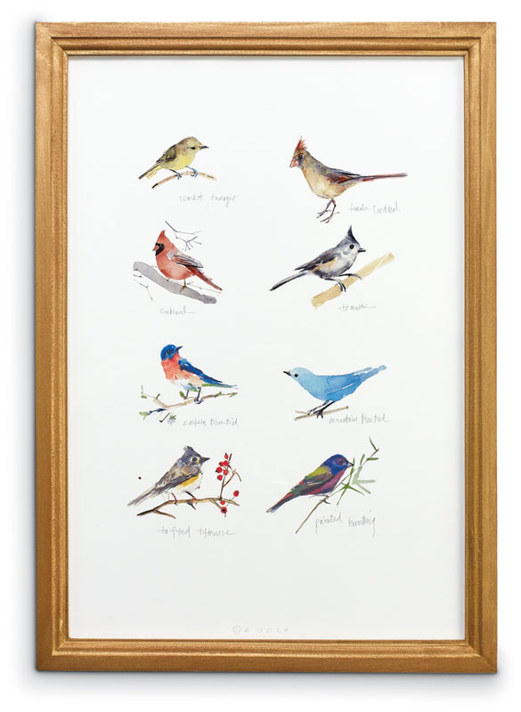 8645: Eunju: Sampler of Six Birds Wall Art (Product Detail)