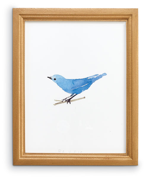 8647: Eunju: Mountain Blue Bird Wall Art (Product Detail)