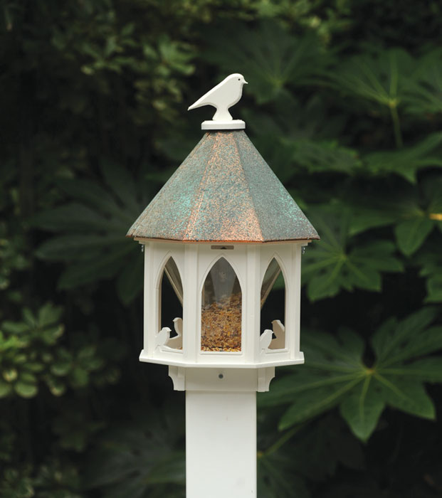 8596: Gothic Bird Feeder with Copper Roof (Product Detail)