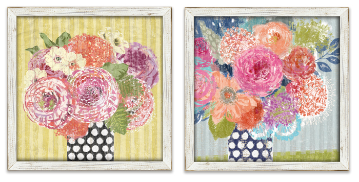 8701: Floral Wall Art (Set of Two) (Product Detail)