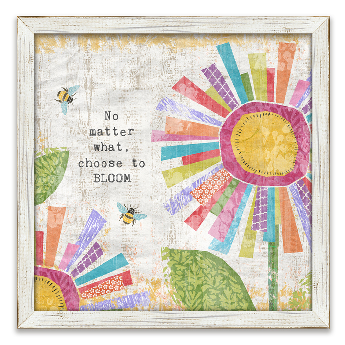 "8702: ""Choose to Bloom"" Wall Art (Product Detail)"