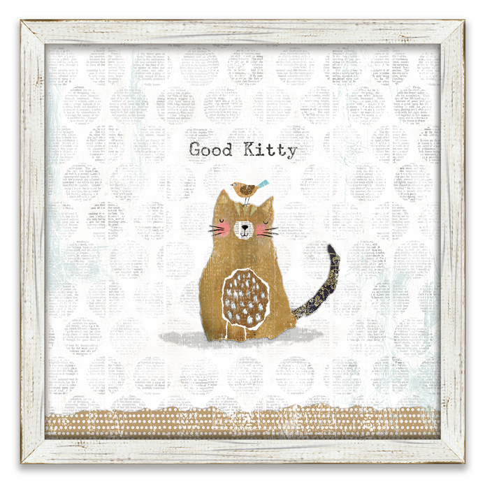 "8705: ""Good Kitty"" Wall Art (Product Detail)"
