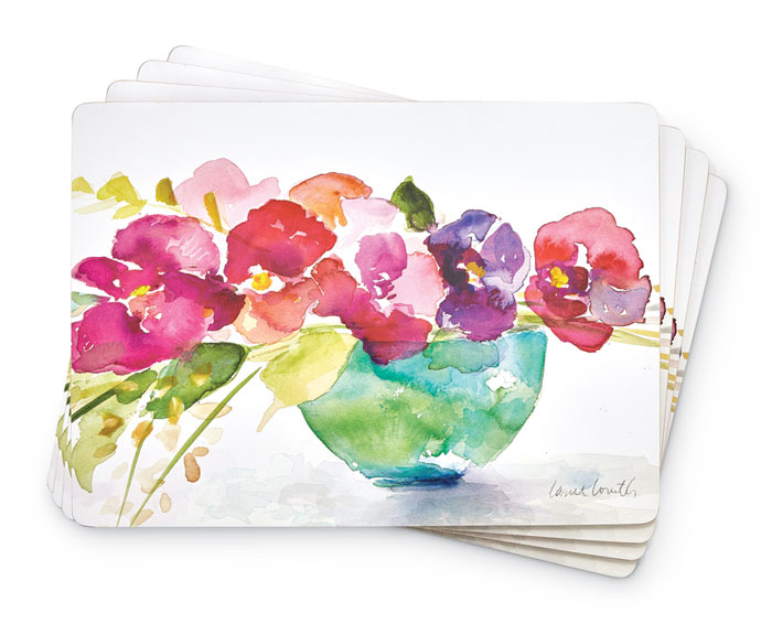 8766: Pastel Blooms Placemats (Set of Four) (Product Detail)