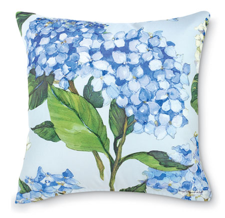 8764: Blue Hydrangea Pillow I (Product Detail)