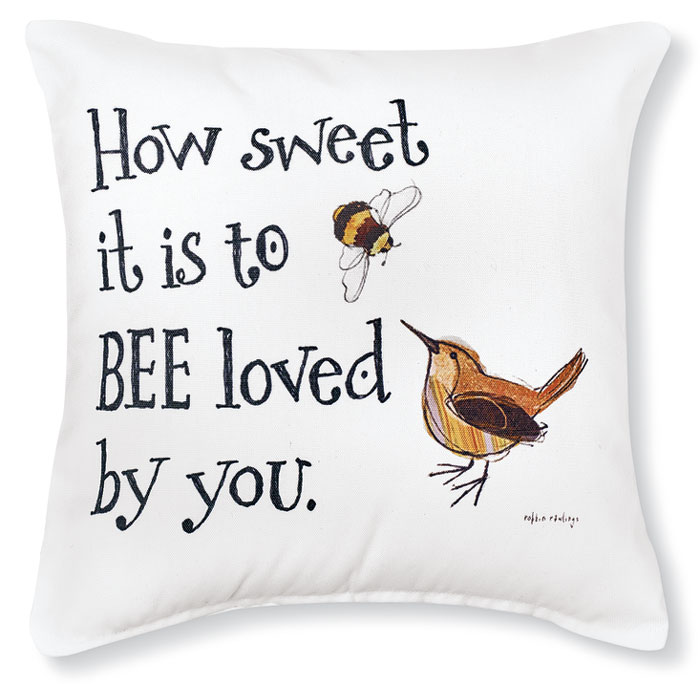 8725: Bee Loved Pillow (Product Detail)